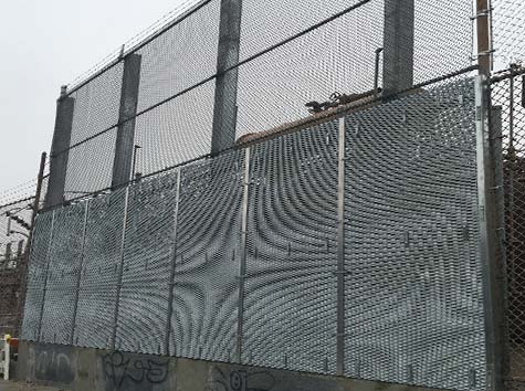 temporaly chain link fence