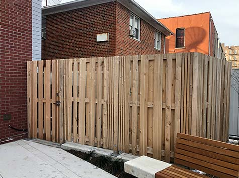 wood fence new york